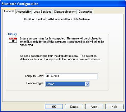 Bluetooth - Change Bluetooth Device Name on Windows XP
